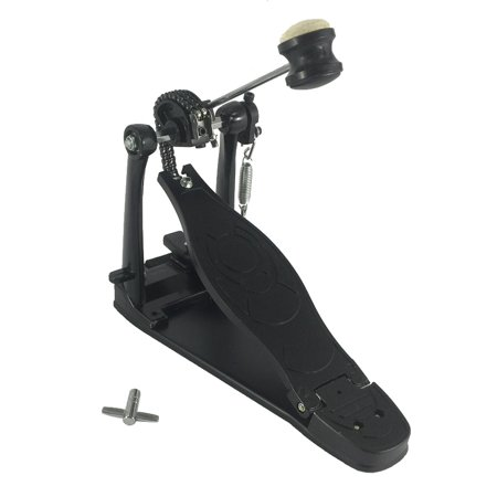 heavy-duty pro quality single kick bass drum pedal chain drive adjustable