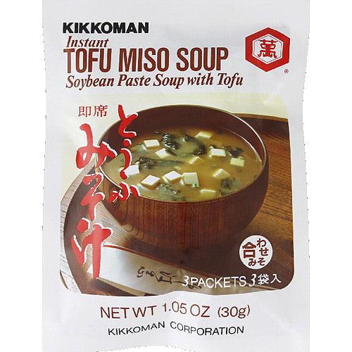 Kikkoman Instant Tofu Miso Soup Mix, 1.05 oz, (Pack of 12)