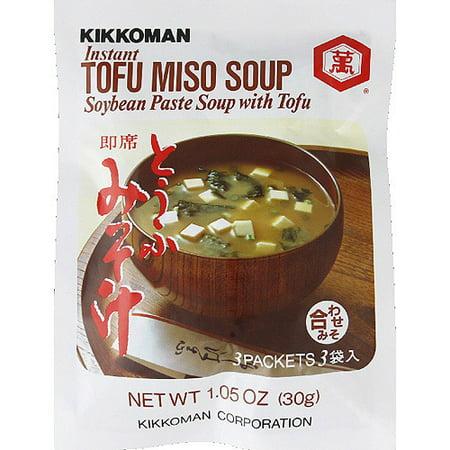 Kikkoman Instant Tofu Miso Soup Mix, 1.05 oz, (Pack of 12 ... Instant Miso Soup Packets
