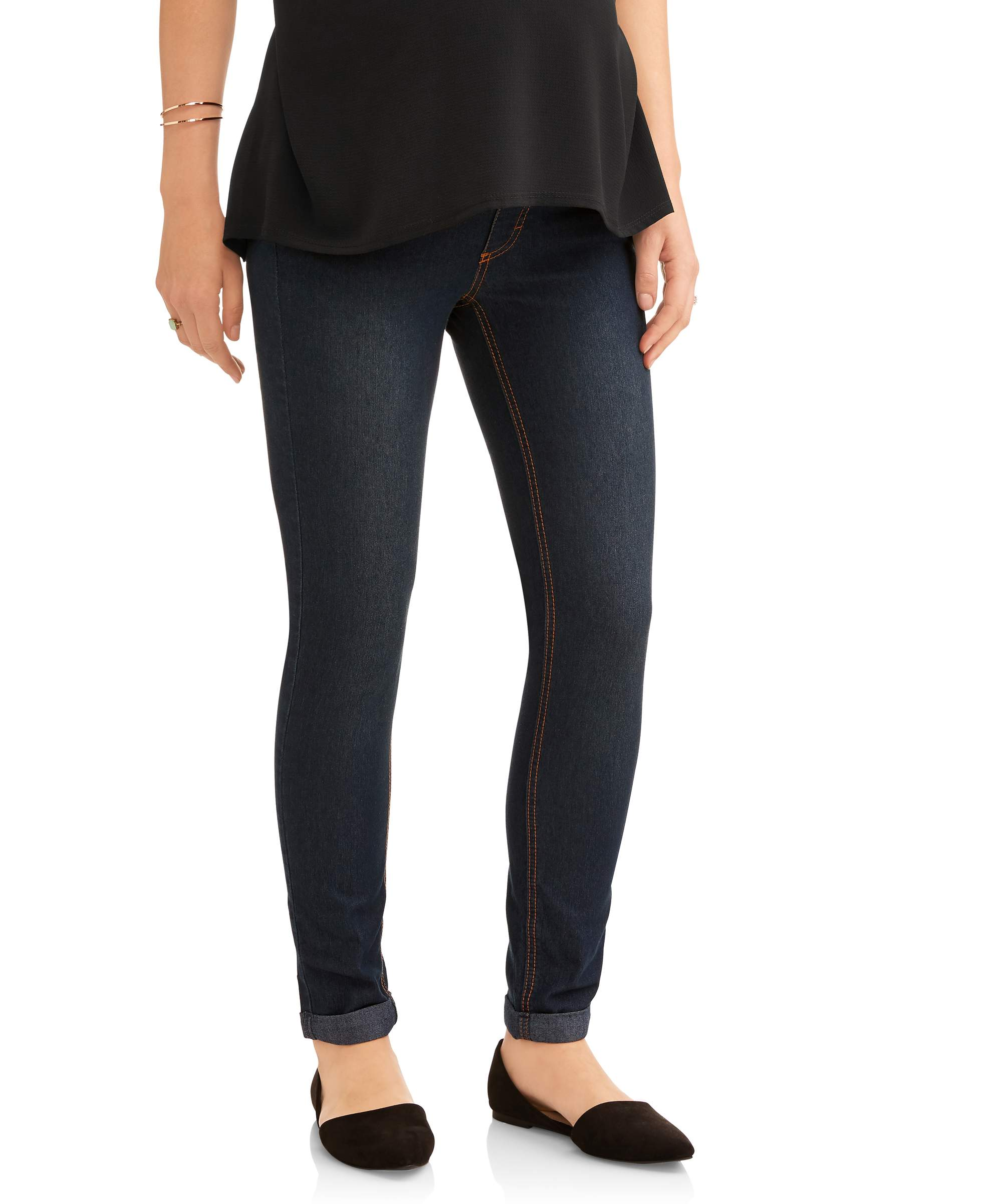 Maternity Full Panel Boyfriend Skinny Jeans - Available in Plus Sizes