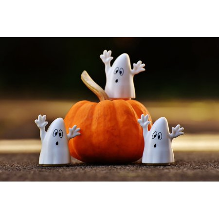 LAMINATED POSTER Halloween Ghosts Pumpkin Happy Halloween Ghost Poster Print 24 x 36 - Funny Happy Halloween Posters