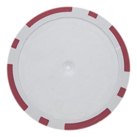 8 Stripe Non-Denominated 14g Poker Chips, Red Clay Composite, 50-pack ()