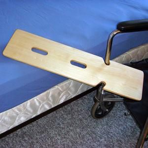 """Mobility Transfer Systems SafetySure Double Notched Wooden Transfer Board 29"""" L x 8"""" W, 1 Count"""