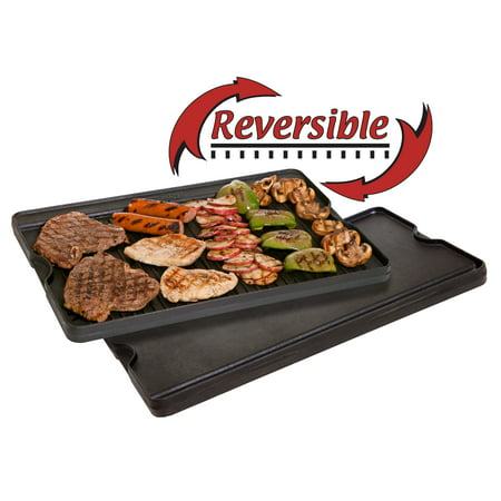 Camp Chef Pre Seasoned Cast Iron Reversible Griddle and Grill