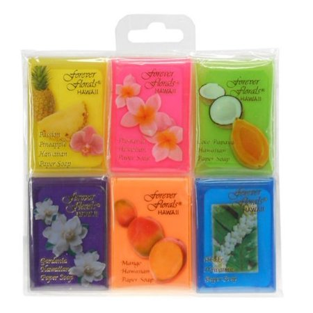 Hawaiian Soup (Hawaiian Forever Florals Paper Soap Assorted 6 Pack )