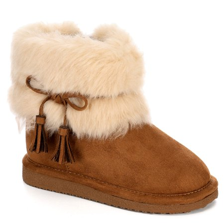 Cupcake Couture Girls Lil Finn Faux Fur Boot Shoes