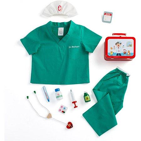 Personalized Boy's Scrubs and Doctor's Kit - Personalized Baby Scrubs
