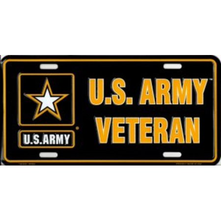 U.S. Army Veteran Metal License Plate