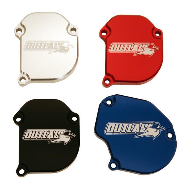 Outlaw Racing OR2015BU ATV Billet Throttle Cover, Blue - 2015