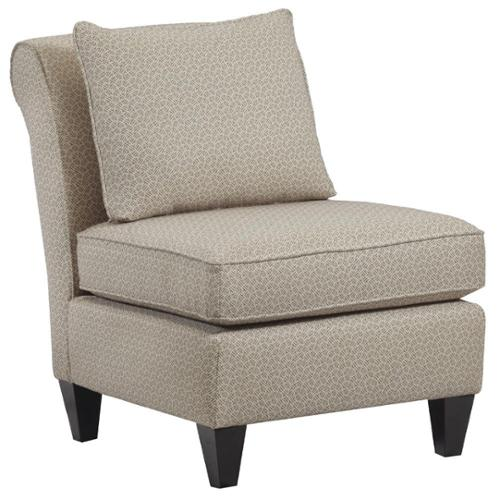 Hayden Armless Upholstered Accent Chair Night Party Chocolate
