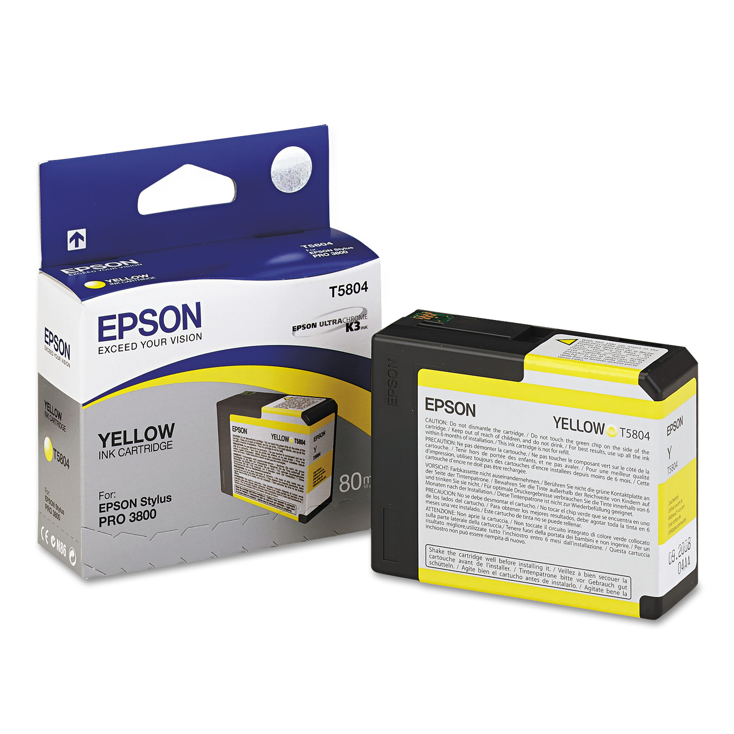 Epson T580400 UltraChrome K3 Ink, Yellow by Epson