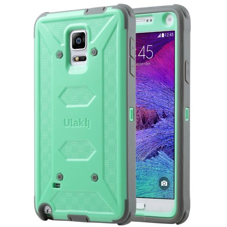 ULAK Galaxy Note 4 Case, [Drop Protection] Knox Armor [Rugged Defense] Heavy Duty with Shock Absorbent [Dual Layered Hybrid Case] Cover for Samsung Galaxy ...
