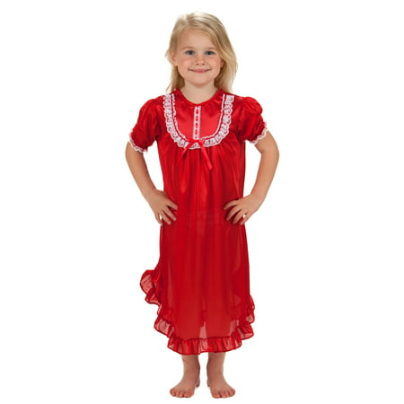 Laura Dare Solid Colors Short Sleeve Traditional Nightgown Baby-Toddler Girls, 9m - 4T](Laura Dare Halloween)