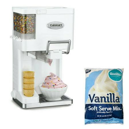 Cuisinart Bundle Set - ICE-45 Soft Serve Ice Cream Maker & Vanilla Ice Cream Mix (Cuisinart Ice Cream Parts)
