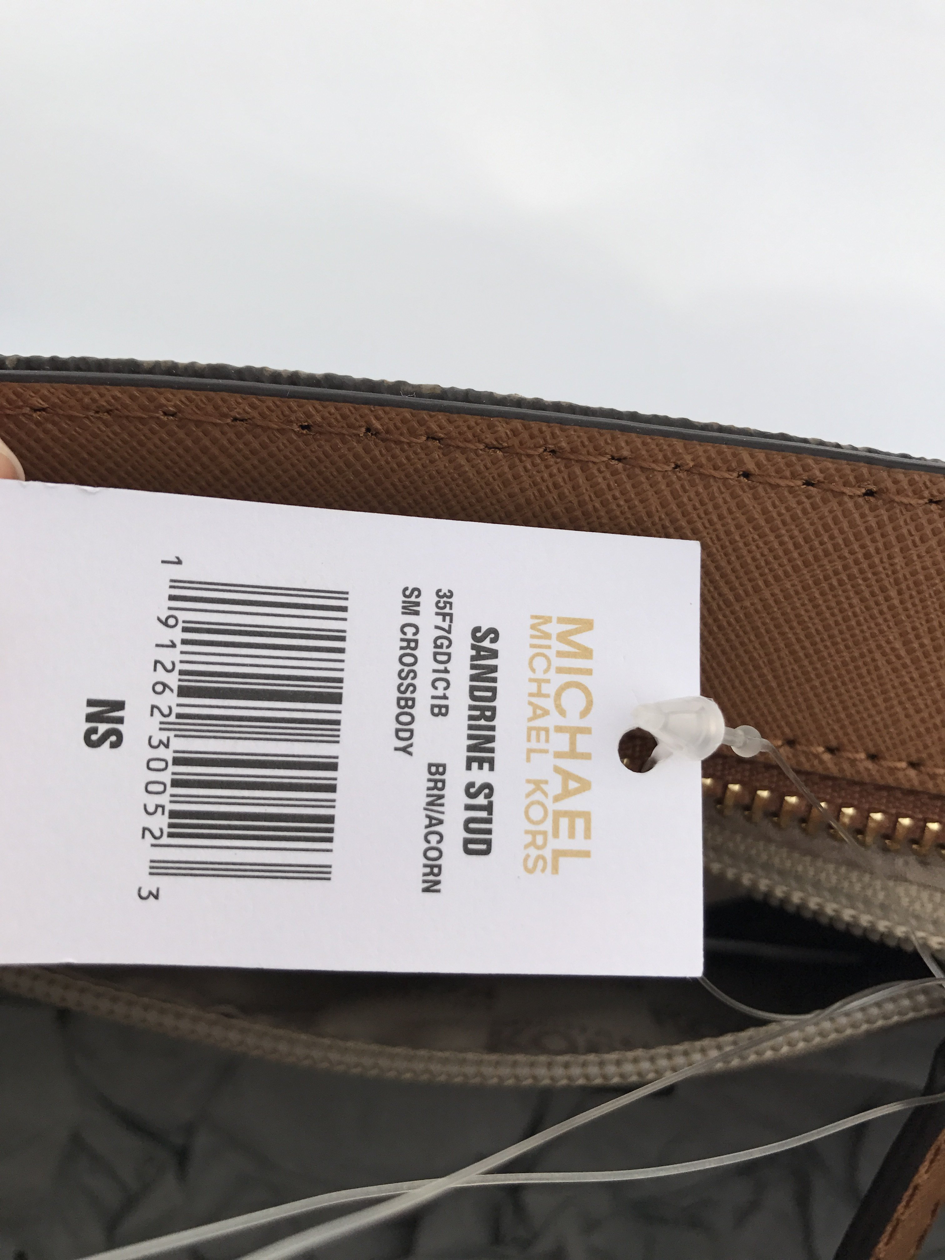 eed877d73b Michael Kors - Michael Kors Sandrine Pyramid Stud Mini Tote Crossbody Bag  Brown MK Signature - Walmart.com