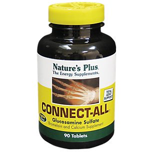 Natures Plus Connect All  Tablets Support For Connective Tissues  Glucosamine Sulfate  90  Tablets   Gluten Free  Vegetarian