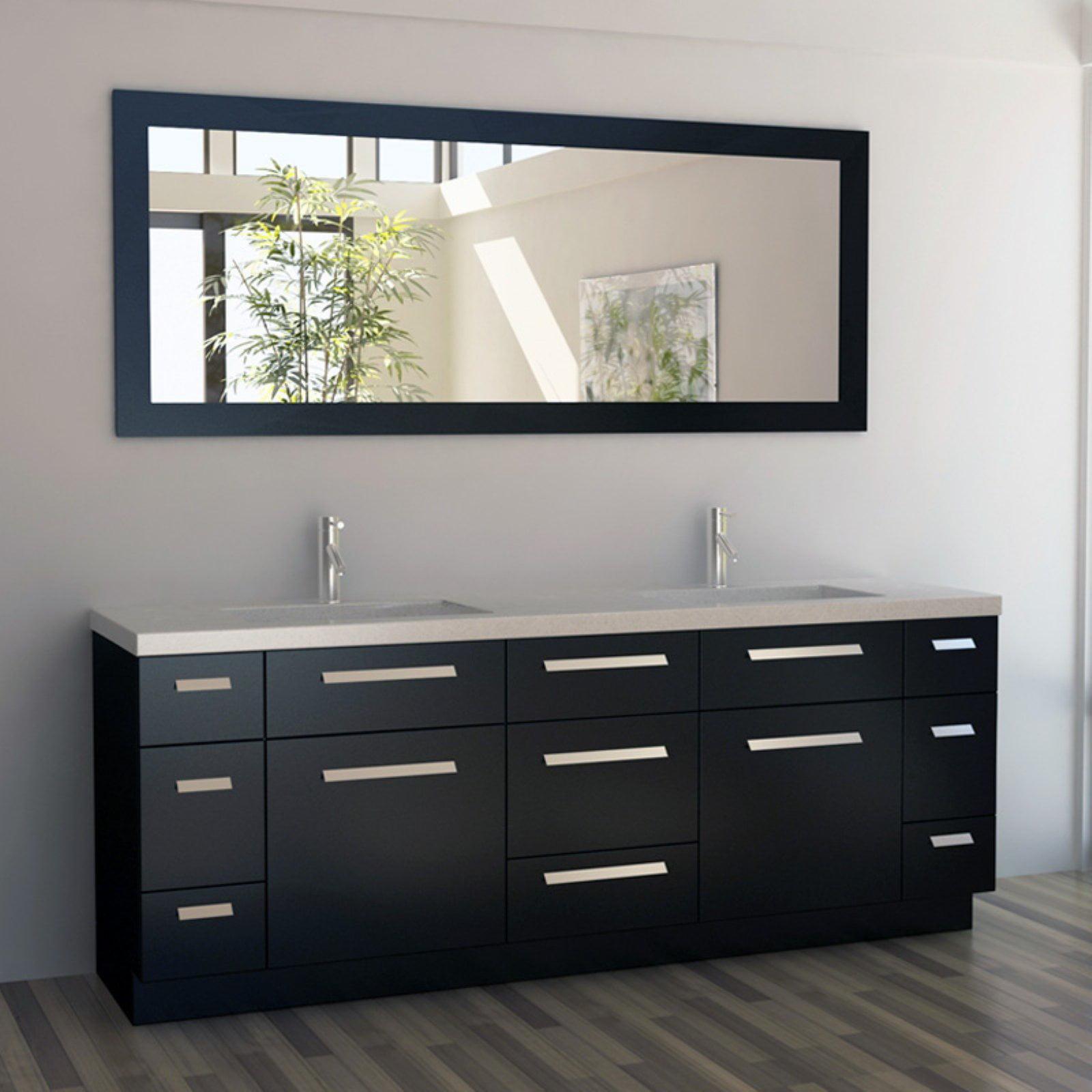 Design Element J84-DS Moscony 84 in. Double Bathroom Vanity Set