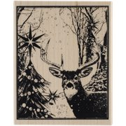 """Penny Black PB4395K Penny Black Mounted Rubber Stamp 3.5""""X4.25"""" - Enchanted Forest"""
