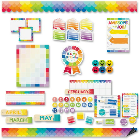 Bulletin Board Set Set (Creative Teaching Press, CTC8882, Painted Design Bulletin Board Sets, 1 Set, Multicolor)