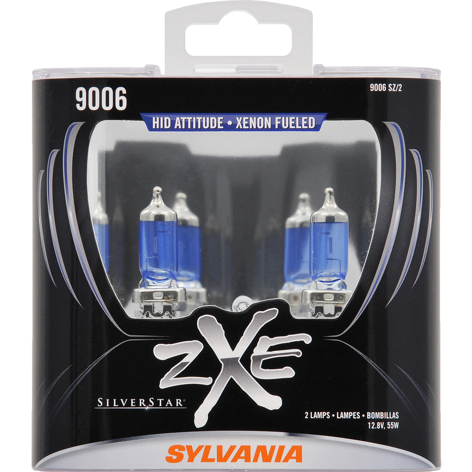 SYLVANIA 9006 SilverStar zXe Halogen Headlight Bulb, Pack of 2