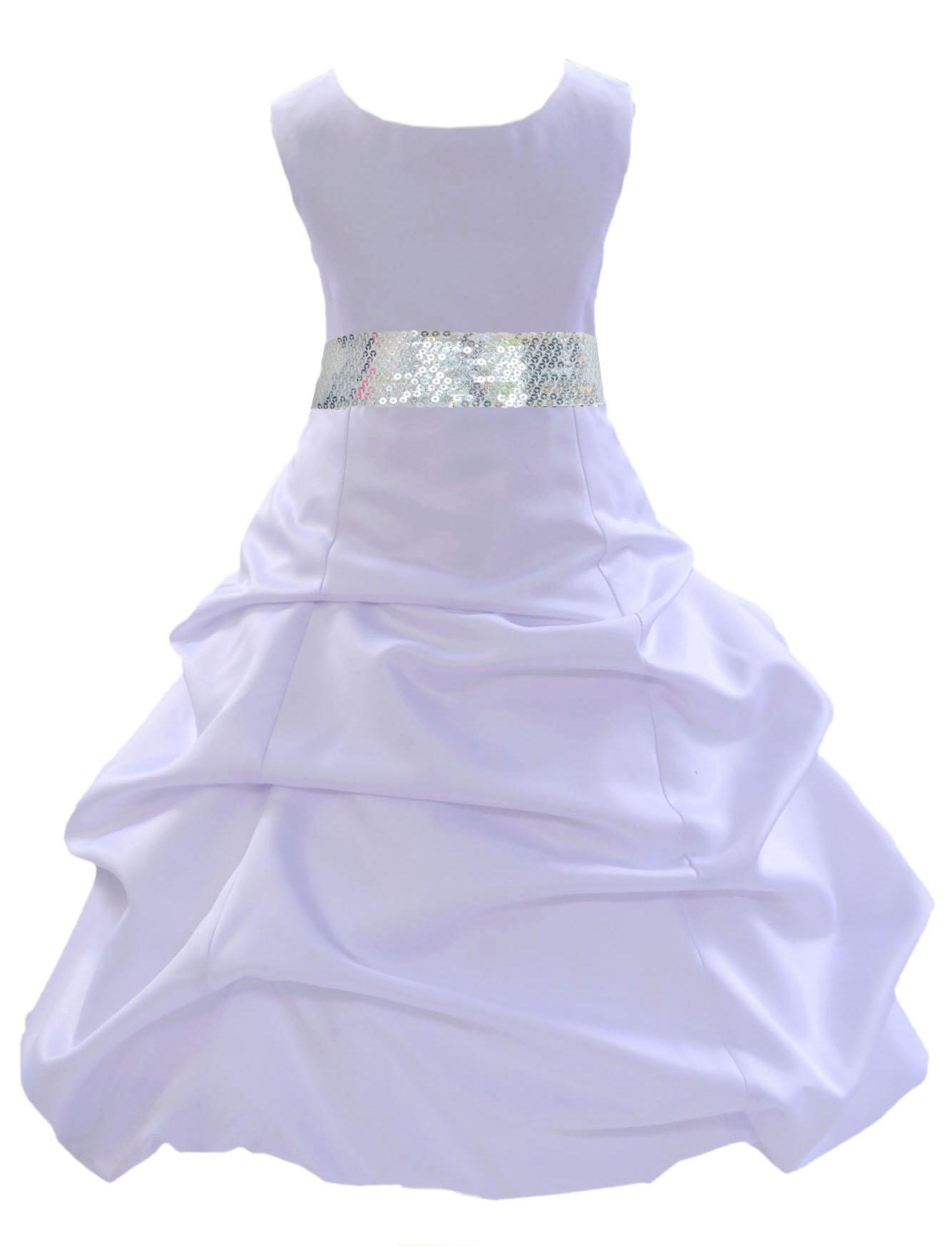 Pageant Formal Flower Girl First Communion Wedding Dress 2 4 6 8 10 12 14 White