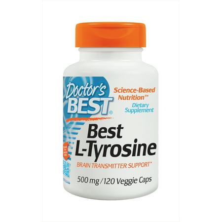 Doctor's Best L-Tyrosine, Non-GMO, Gluten Free, 120 Veggie