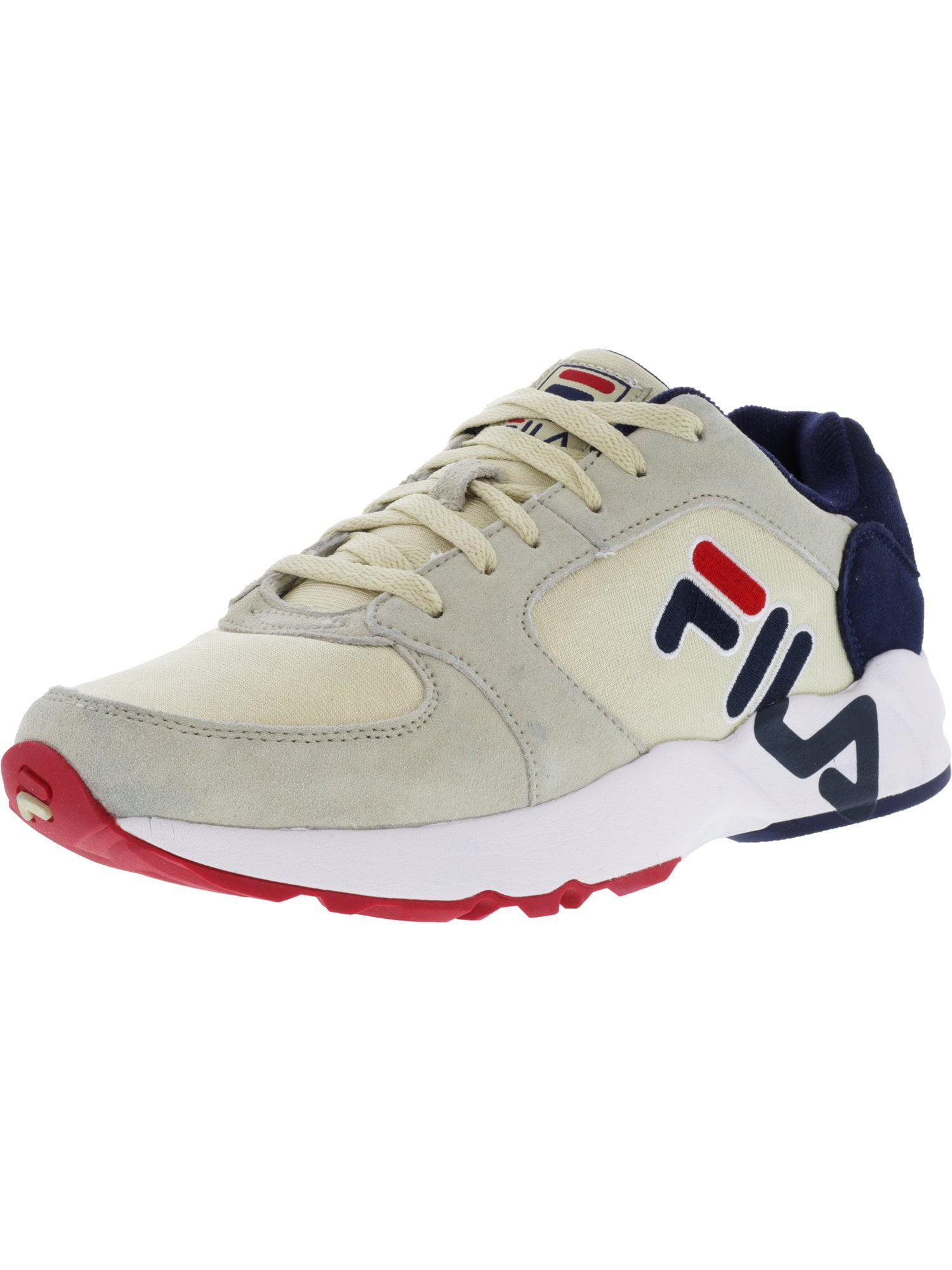 Fila Men's Mindbender Cream   Navy White Ankle-High Running Shoe 13M by Fila