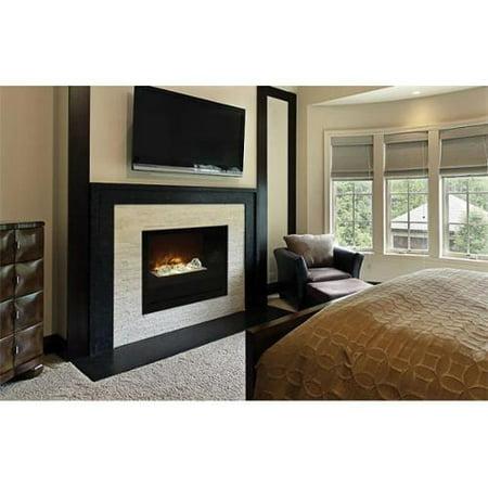 """Modern Flames 36"""" Home Fire Custom Built-in Firebox - Black Glass Front"""
