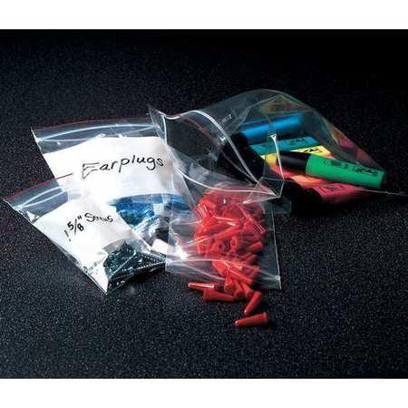 MINIGRIP RED LINE Reclosable Bag,Standard,LDPE,Seal,PK1000 MGRL2W0304