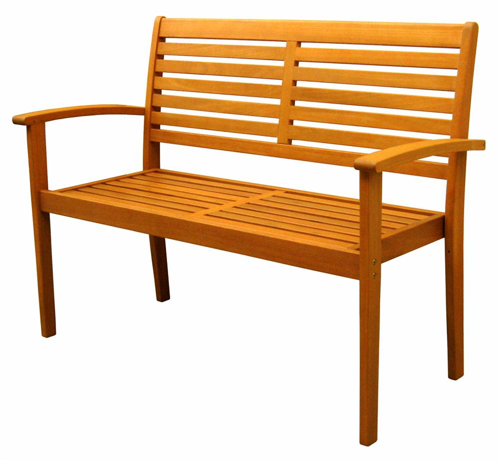 Balau Wood Oslo Contemporary Patio Bench