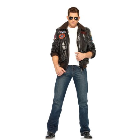Leg Avenue Top Gun Bomber Jacket Mens Costume (Bomber Jacket Costume)