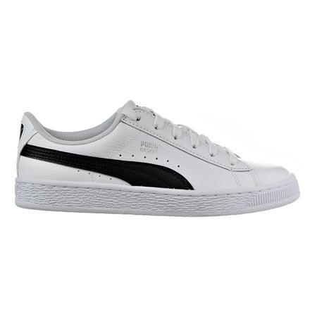 promo code 5c53a d6351 Puma Basket Classic LFS Jr Big Kid's Shoes Puma White/Puma Black 364503-01  (4.5 M US)