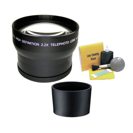 Canon PowerShot SX530 HS 2.195x High Grade Super Telephoto Lens (Includes Adapter Ring) + Nw Direct 5 Piece Cleaning Kit