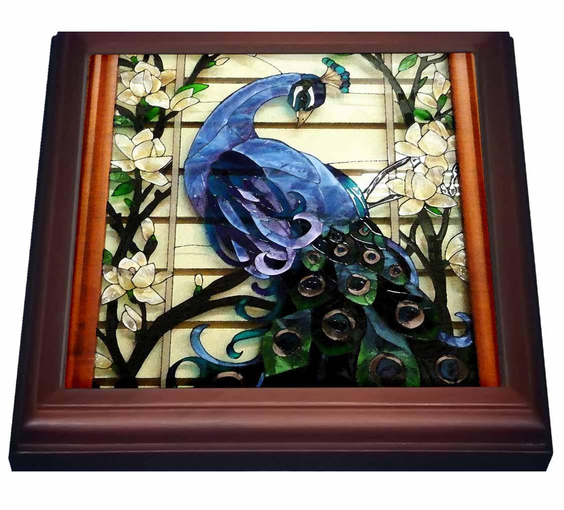 3drose Peacock Proud Trivet With Ceramic Tile 8 By 8 Inch