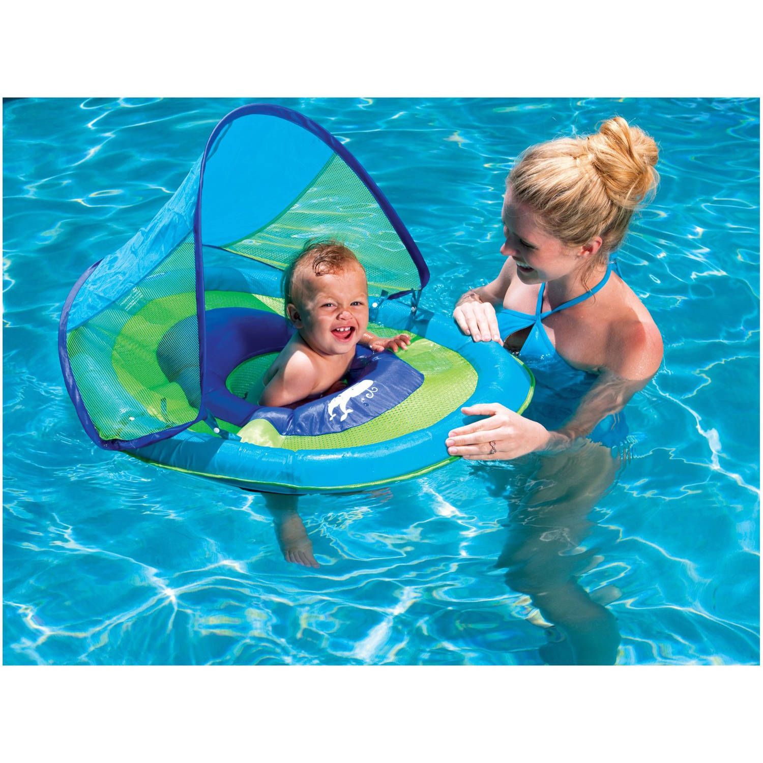 Swimways Baby Spring Float Sun Canopy Float for Swimming Pools