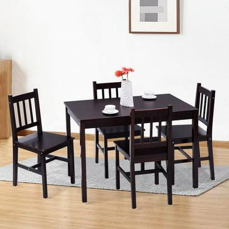 Winston Porter Sundberg 5 Piece Solid Wood Dining Set