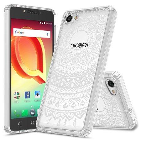 Alcatel A50 Case, Alcatel Pulsemix, Rosebono Slim Scratch-Resistant Pattern Designed Slim Shockproof Bumper Protective Cover for Alcatel A50 / Pulsemix (Mandala Henna)