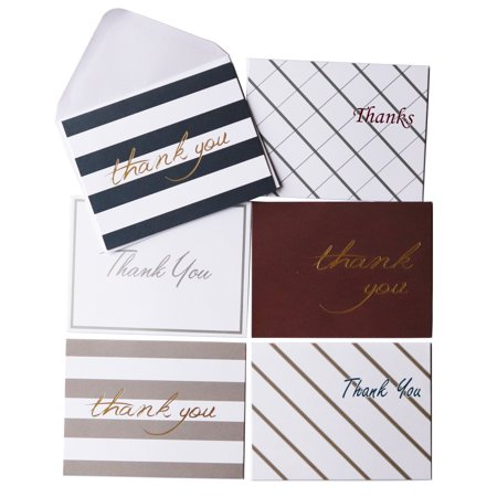 Oaklyn (48 pack) Thank You Cards Set with Envelopes