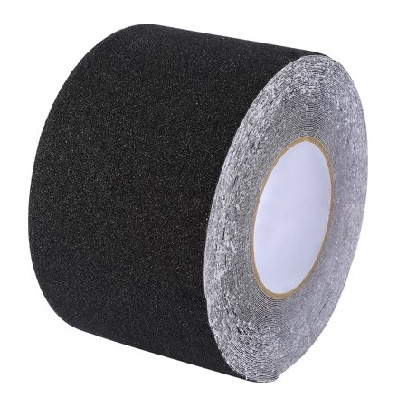 Dioche Colorful 10cm*20M PVC Non-Slip Anti Skid Adhesive Tape for Stair Step Floor Safety Decor Black