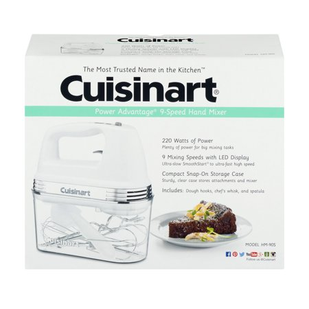 Cuisinart Power Advantage 9-Speed Hand Mixer, 1.0 CT