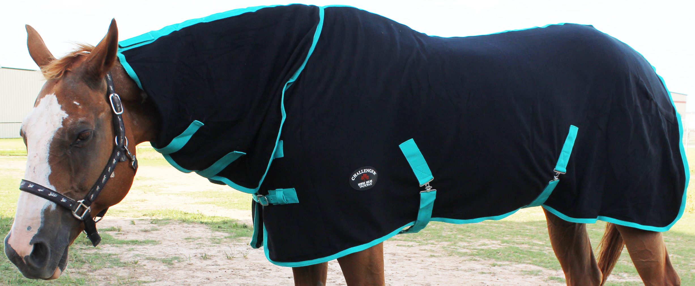 "68/"" Horse Sheet Polar FLEECE COOLER Blanket Black 4315"