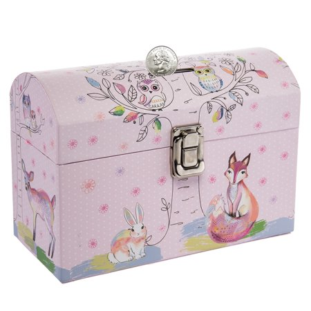 Tri Coastal Design Kids Piggy Bank Coin Savings Money Bank Toy With Latch For Girls Or Boys