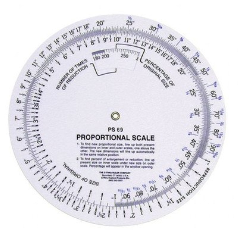 C-Thru Proportional Scale 8 in. diameter