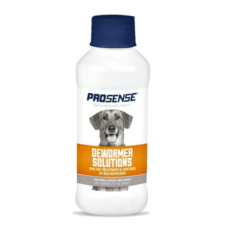 Pro-Sense Dewormer Solutions For Dogs 4 oz, Liquid Roundworm