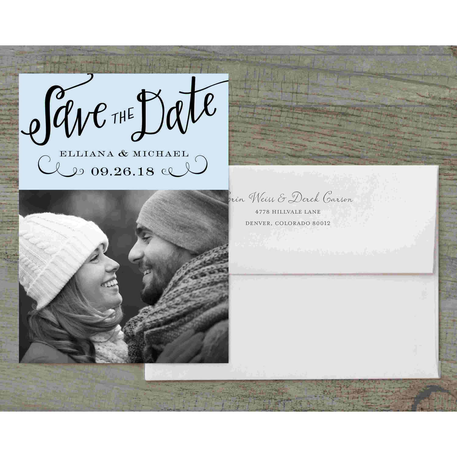 Calligraphy Mr and Mrs Deluxe Save the Date