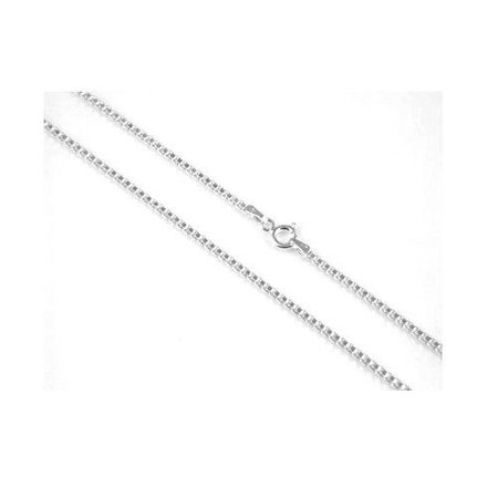 Solid .925 Sterling Silver .9mm - 015 Box Chain Necklace