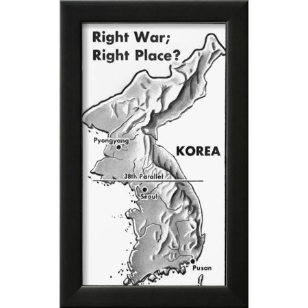 Poster of Korea and 38Th Parallel Framed Print Wall Art - Walmart.com
