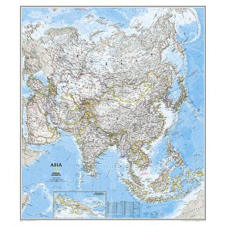 Mvp Materials (National Geographic: Asia Classic Wall Map - Laminated (33.25 X 38)