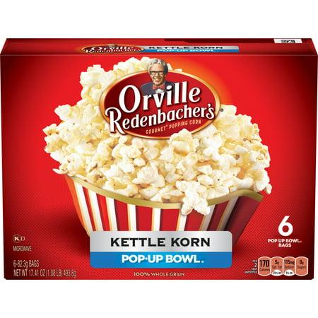 Orville Redenbacher's Pop Up Bowl Kettle Korn Microwave Popcorn, 6-Count