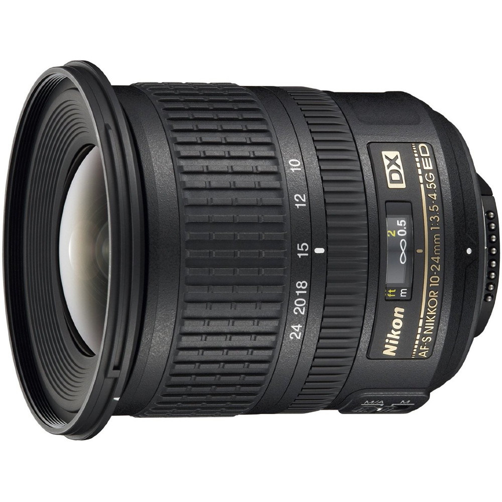 Nikon AF-S DX NIKKOR 10-24mm f/3.5-4.5G ED Zoom Lens w/ Auto-Focus for Nikon DSLRs (Certified Refurbished)